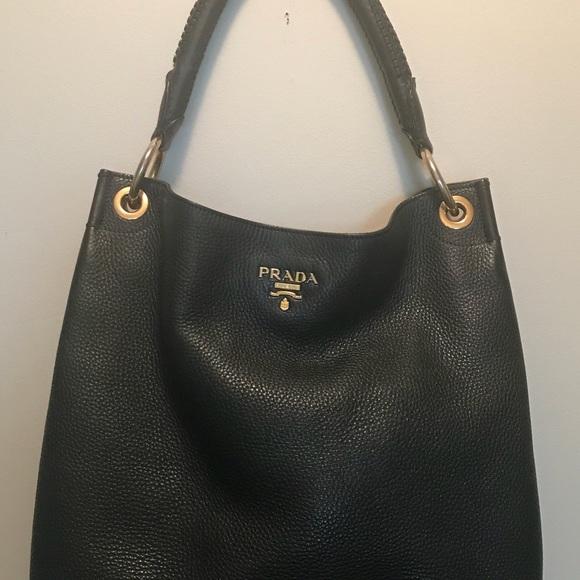 3a810808df2c Prada Vitello Daino Hobo. M 5b943f12d6dc52684472fbdb. Other Bags you may  like. Purse authentic like new Prada